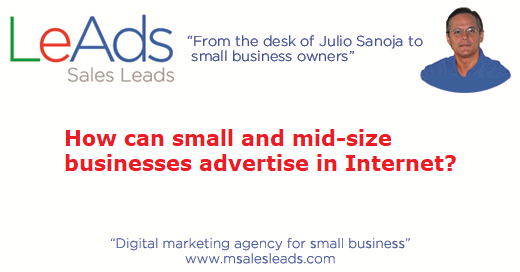 How can businesses advertise in Internet?