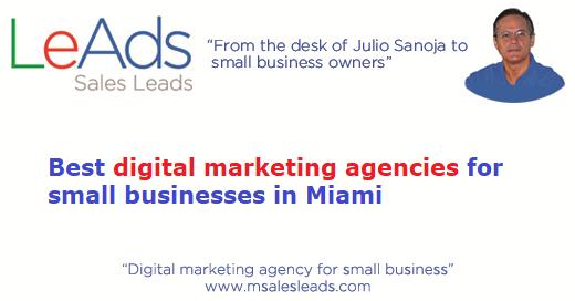 Digital Marketing Agencies Small Business Miami