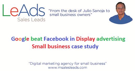 Google beat Facebook in Display