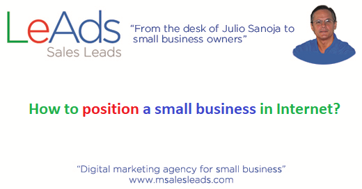 How to position a small business in Internet