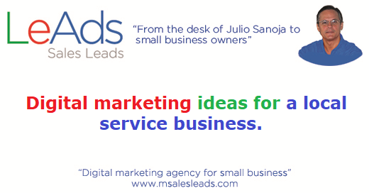 Digital Marketing Ideas For A Local Service Business