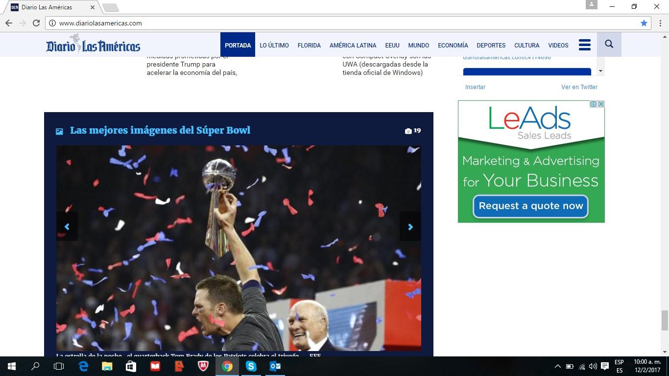 LeAds Ad at Diario de las Américas feb12-2017