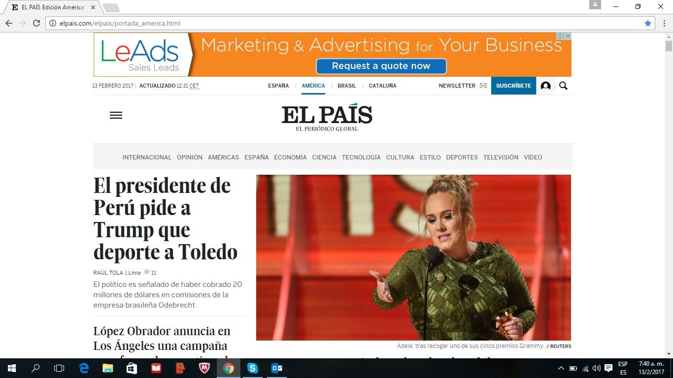LeAds Ad at El País feb13-2017