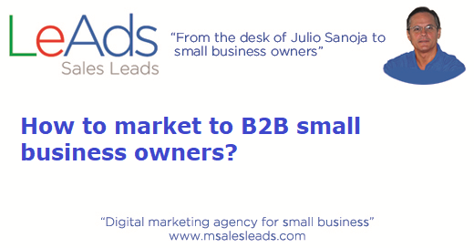 How to market to B2B small business owners