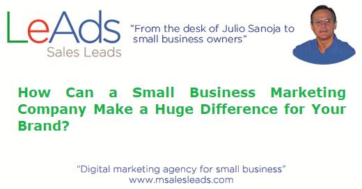 Small Business Marketing Company