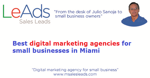 Digital Marketing Agencies Small Business Miami