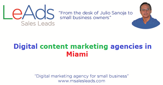 Digital Content Marketing Agencies in Miami