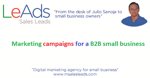 Marketing campaigns for a B2B small business