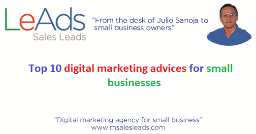 Digital marketing advices for small businesses