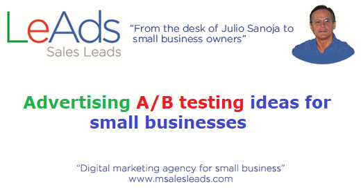 Digital Advertising A/B testing ideas for small businesses