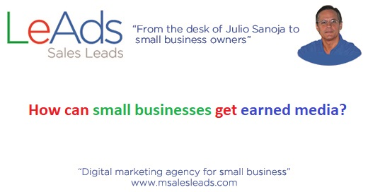 How can small businesses get earned media