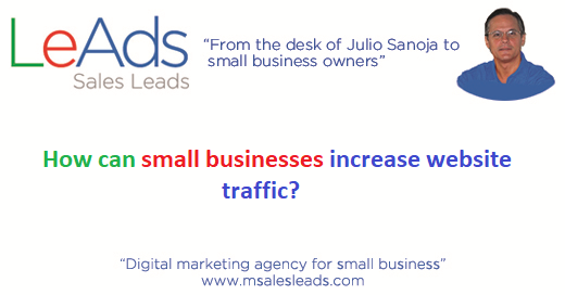 How can small businesses increase website traffic