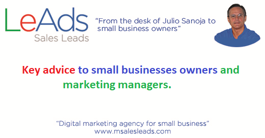 Key Advice to Small Businesses Owners and Marketing Managers