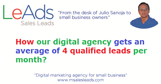 How our digital agency gets an average of 4 qualified leads per month