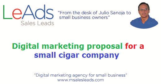 Digital Marketing Proposal For A Small Cigar Company