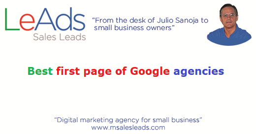 Best First Page of Google Agencies