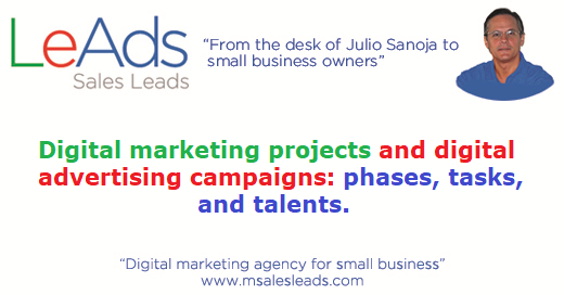 Digital Marketing Projects And Digital Advertising Campaigns Phases Tasks And Talents