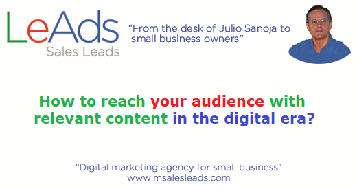 How To Reach Your Audience With Relevant Content In The Digital E