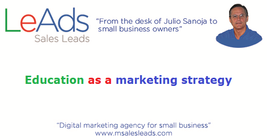 Education as a marketing strategy