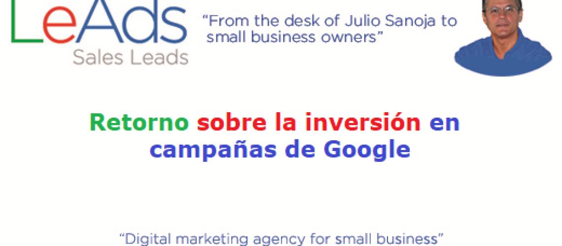 retorno sobre la inversión en campañas de Google